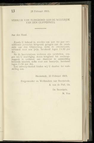 Raadsnotulen Heemstede 1935-02-28