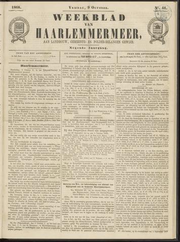 Weekblad van Haarlemmermeer 1868-10-09