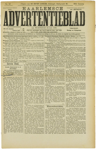 Haarlemsch Advertentieblad 1889-07-24