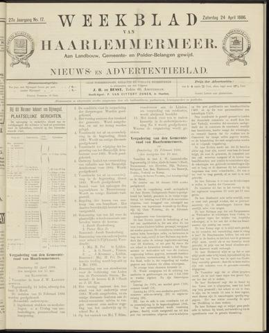 Weekblad van Haarlemmermeer 1886-04-24