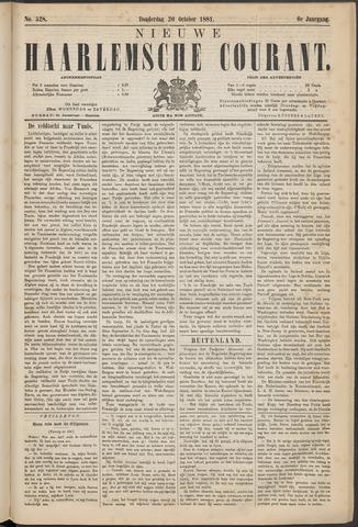 Nieuwe Haarlemsche Courant 1881-10-20