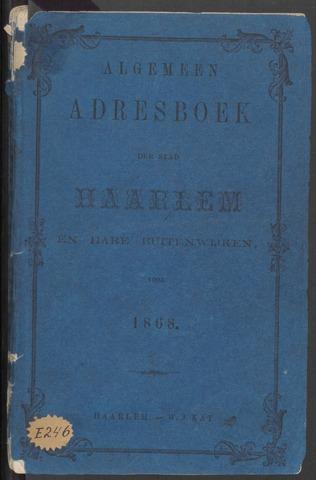 Adresboeken Haarlem 1868