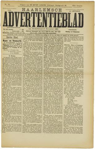 Haarlemsch Advertentieblad 1889-11-27