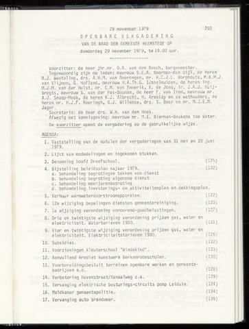 Raadsnotulen Heemstede 1979-11-29