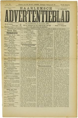 Haarlemsch Advertentieblad 1888-11-24