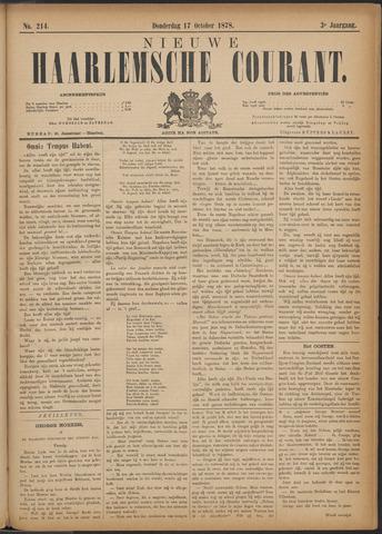 Nieuwe Haarlemsche Courant 1878-10-17