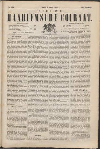 Nieuwe Haarlemsche Courant 1885-03-08