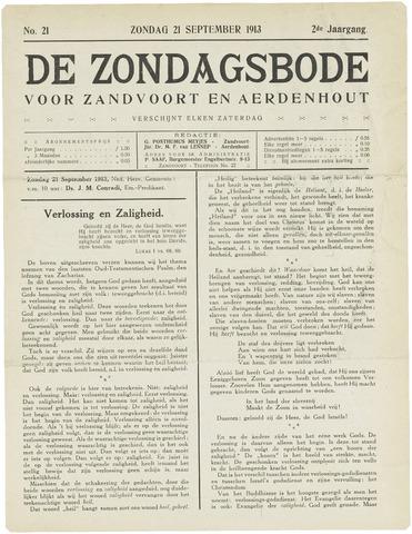 De Zondagsbode voor Zandvoort en Aerdenhout 1913-09-21