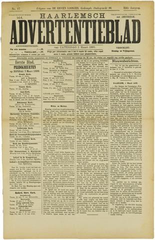 Haarlemsch Advertentieblad 1889-03-02