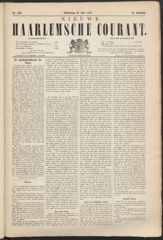 Nieuwe Haarlemsche Courant 1884-07-31