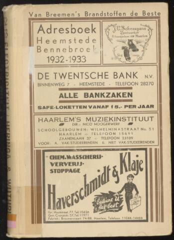 Adresboeken Heemstede, Bennebroek 1932