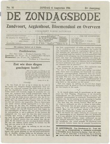 De Zondagsbode voor Zandvoort en Aerdenhout 1916-08-06