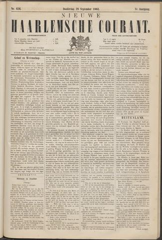 Nieuwe Haarlemsche Courant 1882-09-28