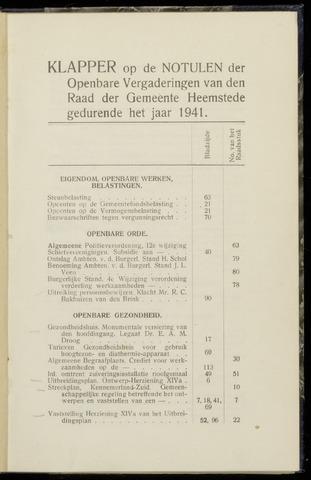 Raadsnotulen Heemstede 1941-01-01