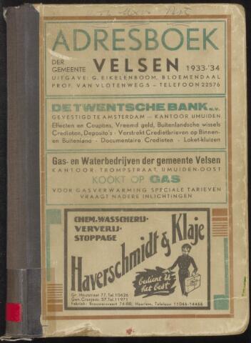 Adresboeken Velsen 1933