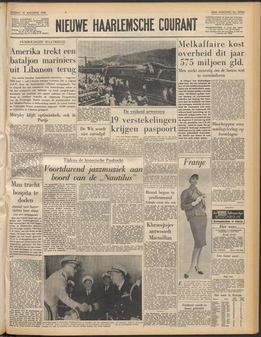 Nieuwe Haarlemsche Courant 1958-08-12