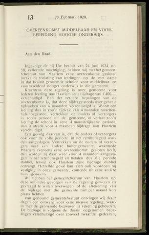Raadsnotulen Heemstede 1929-02-28