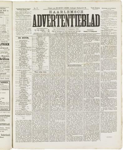 Haarlemsch Advertentieblad 1882-09-27