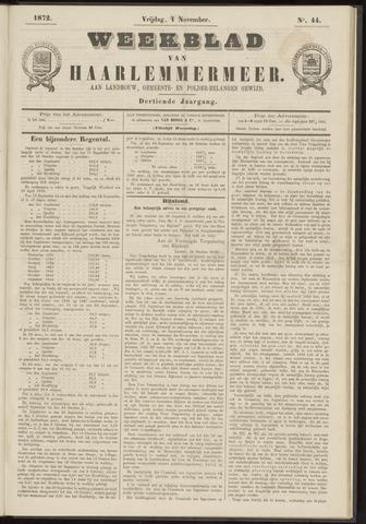 Weekblad van Haarlemmermeer 1872-11-01