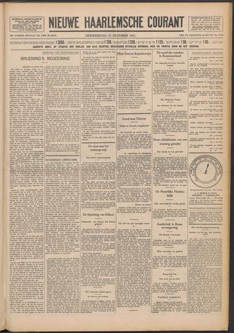 Nieuwe Haarlemsche Courant 1931-10-22