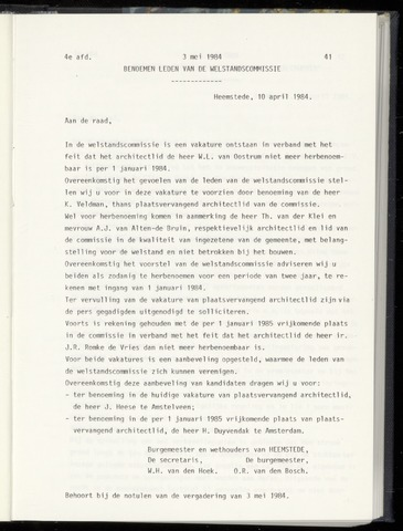 Raadsnotulen Heemstede 1984-05-03