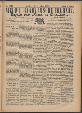 Nieuwe Haarlemsche Courant 1903-12-18