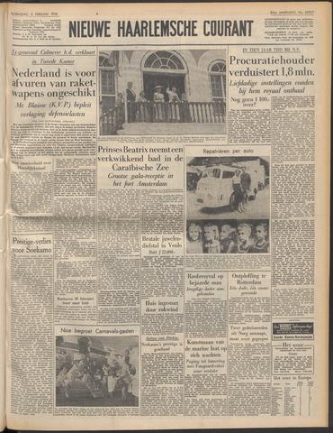 Nieuwe Haarlemsche Courant 1958-02-05