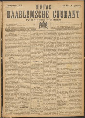 Nieuwe Haarlemsche Courant 1907-02-15