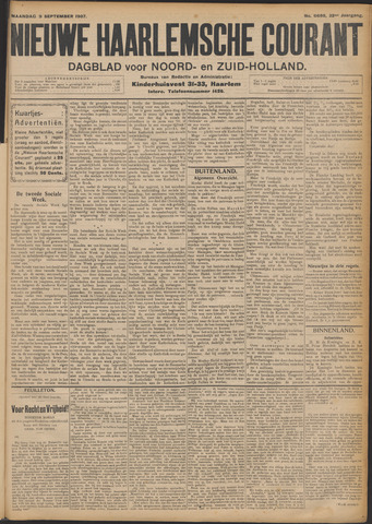 Nieuwe Haarlemsche Courant 1907-09-09