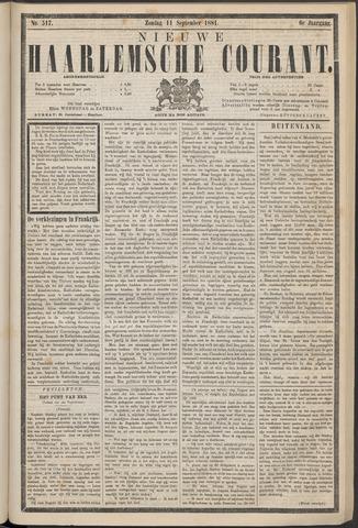 Nieuwe Haarlemsche Courant 1881-09-11
