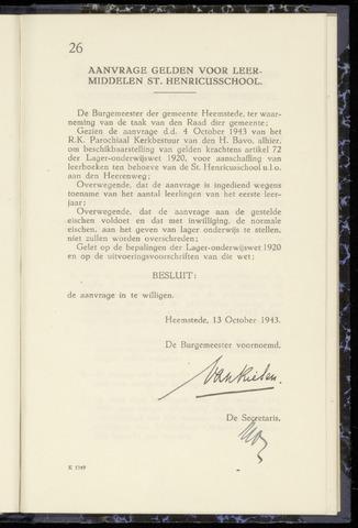 Raadsnotulen Heemstede 1943-10-13