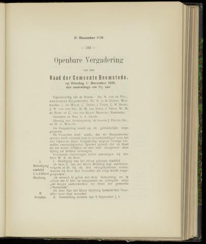 Raadsnotulen Heemstede 1920-12-21
