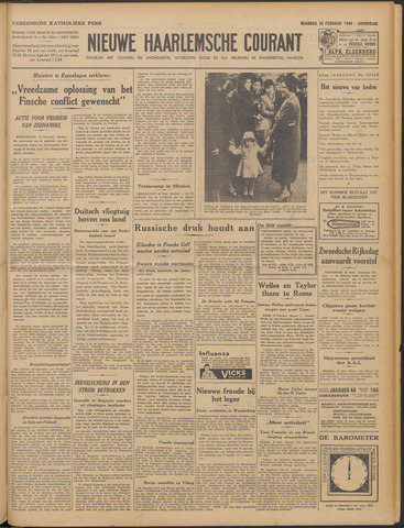 Nieuwe Haarlemsche Courant 1940-02-26
