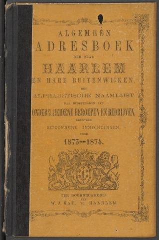 Adresboeken Haarlem 1873
