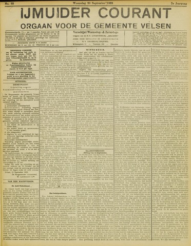 IJmuider Courant 1922-09-20