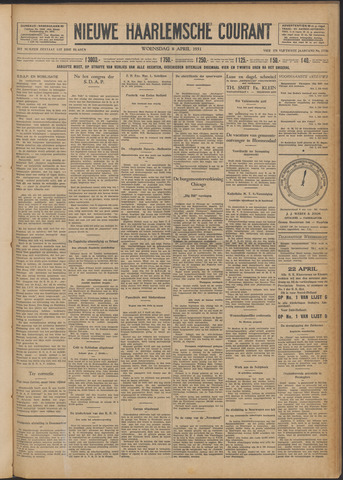 Nieuwe Haarlemsche Courant 1931-04-08