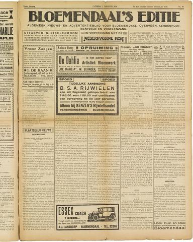 Bloemendaal's Editie 1926-08-07