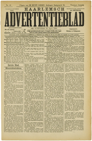Haarlemsch Advertentieblad 1898-04-20