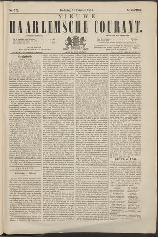 Nieuwe Haarlemsche Courant 1884-02-21