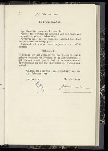 Raadsnotulen Heemstede 1946-02-28