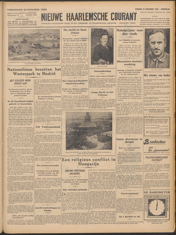 Nieuwe Haarlemsche Courant 1936-11-24