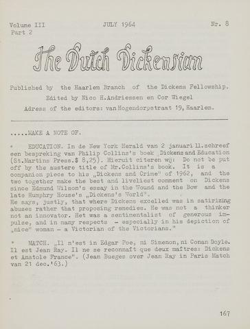 The Dutch Dickensian 1964