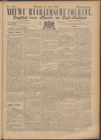 Nieuwe Haarlemsche Courant 1903-06-15