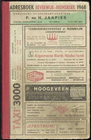 Adresboeken Beverwijk, Heemskerk 1968