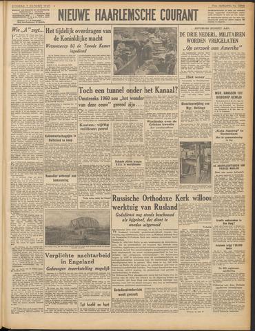 Nieuwe Haarlemsche Courant 1947-10-07