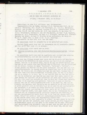 Raadsnotulen Heemstede 1978-12-01