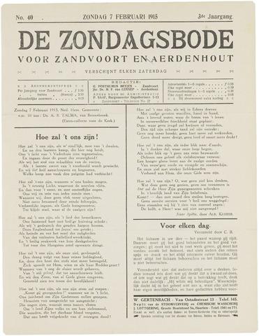 De Zondagsbode voor Zandvoort en Aerdenhout 1915-02-07
