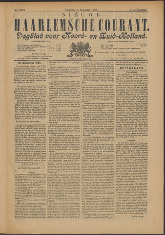 Nieuwe Haarlemsche Courant 1896-11-05