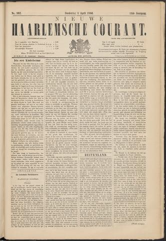 Nieuwe Haarlemsche Courant 1886-04-01