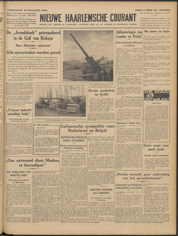 Nieuwe Haarlemsche Courant 1940-01-16